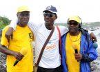 Jean Hugues Bellance, Guy Albert Malongila (RCI) et Denis Dréline(Martinique 1ere)